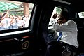 Barack Obama drives to the airport in Jakarta.jpg