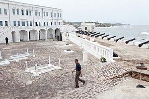 Cape Coast Castle - President Barack Obama visiting the slave castle