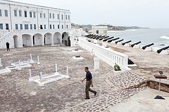 Cape Coast Castle - President Barack Obama visiting the slave castle
