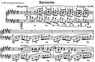 Barcarolle (Chopin) - The opening of the Barcarolle