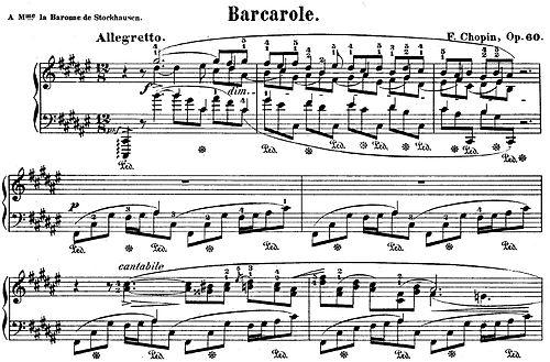Barcarolle Wikipedia >> Barcarolle Chopin Wikipedia