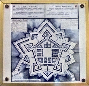 Parc de la Ciutadella - Map of the military compound of Ciutadella