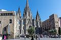 Barcelone - Cathédrale - Façade contexte.jpg