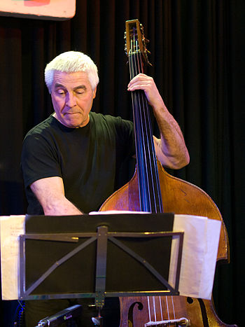 English: Barry Guy, Jazz bassist; Picture take...
