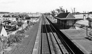 Barry Links railway station - The station in 1974