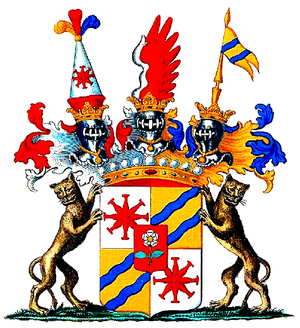 Johann Kaspar Basselet von La Rosée - Coat of arms of the Counts Basselet von La Rosée