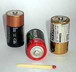 1.5 V C-cell batteries