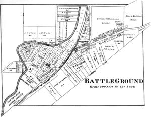 Battle Ground, Indiana - Battle Ground in 1878.