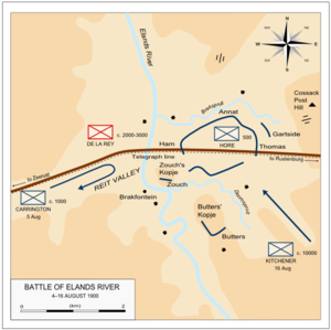 Battle of Elands River (1900) - Battle of Elands River, 4–16 August 1900.