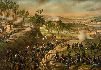 Kurz and Allison - Image: Battle of Resaca 1864 c 1889