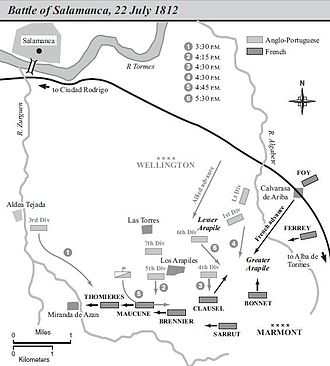 Battle of Salamanca - Map of the battle