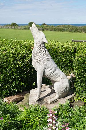 Old Hunstanton - Image: Baying Wolf by Jean Mulligan, Old Hunstanton