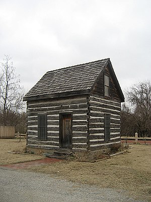 National Register of Historic Places listings in Pottawatomie County, Oklahoma - Image: Beard Cabin Shawnee OK