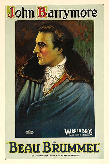 English: Beau Brummel (1924) film poster.