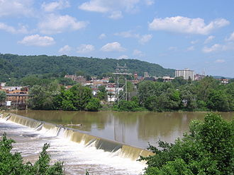 Beaver Falls, Pennsylvania - View of Beaver Falls, from the borough of New Brighton.