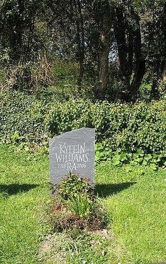 St Mary's Church, Llanfair-yng-Nghornwy - The grave of the artist Sir Kyffin Williams