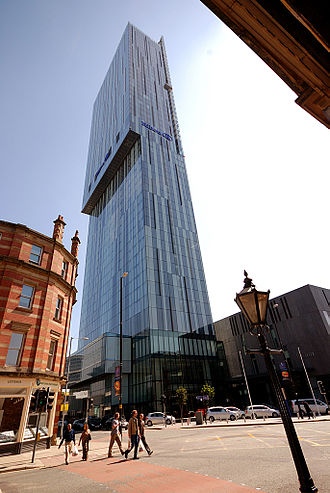SimpsonHaugh and Partners - Exterior detail of the Beetham Tower, Manchester