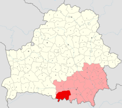 Location of Lyelchytsy District