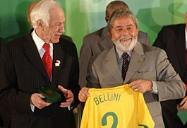 Bellini (links) in 2008 met Lula da Silva