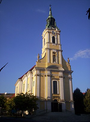 Szekszárd - Church of King Béla square