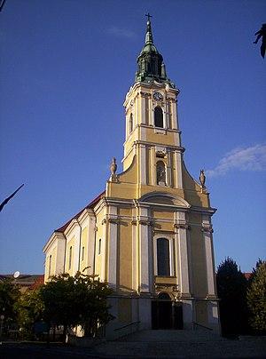 Szekszárd - Church of King Béla square