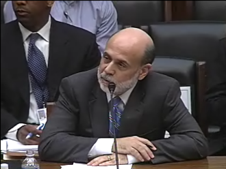 Ben Bernanke - Bernanke testifying before the House Financial Services Committee responding to a question on February 10, 2009.