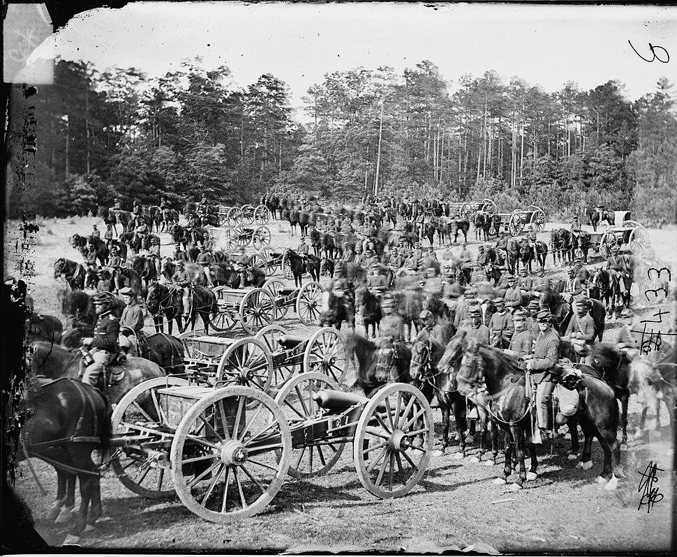 Benson%27s Battery M at Fair Oaks 1862
