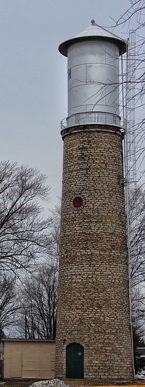 National Register of Historic Places listings in Lafayette County, Wisconsin - Image: Benton Stone Water Tower