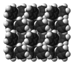 Stack of benzene ball-and-stick model