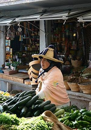 Jebala people - A Jebala woman at a marketplace