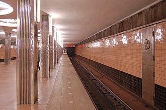 Beresteiska (Kiev Metro) - Image: Beresteyska metro station Kiev 2010 03