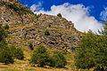 Bergtocht van Gimillan (1805m.) naar Colle Tsa Sètse in Cogne Valley (Italië). Zicht op rotsformatie.jpg