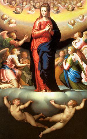 Bernardino Campi - Madonna in Glory by Bernardino Campi