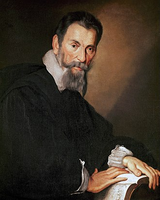 History of music - Portrait of Italian composer Claudio Monteverdi in Venice, by Bernardo Strozzi, c. 1630