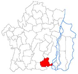 Vị trí của Bertestii de Jos