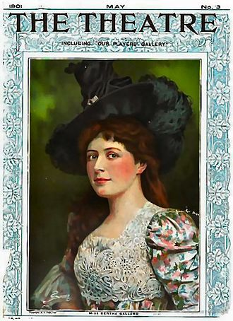 Bertha Galland - On the cover of The Theatre, May 1901