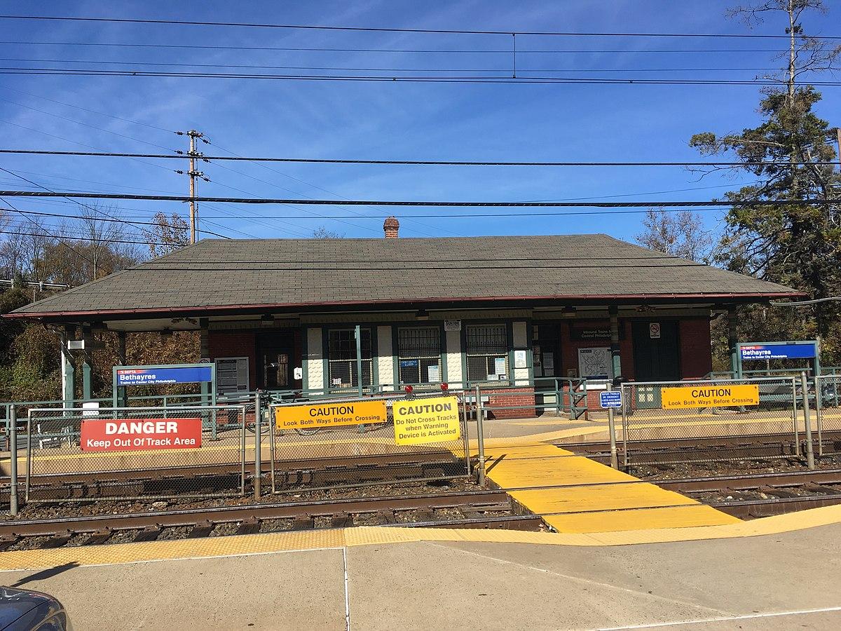 Prospect Park Pa >> Bethayres station - Wikipedia