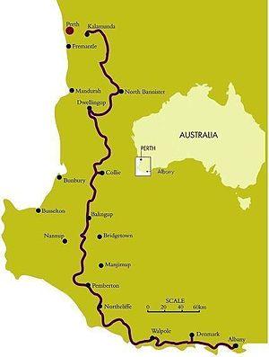 Bibbulmun Track - The Bibbulmun Track runs between Kalamunda and Albany