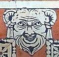 Biblioteca laurenziana, sala lettura, pavimento, 02, mascherone 03.jpg
