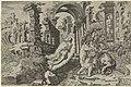Bileam and the angel, Dirck Volkersz. Coornhert after Maarten van Heemskerck, 1554, engraving, 276 by 420 mm, Rijksprentenkabinet Amsterdam.jpg