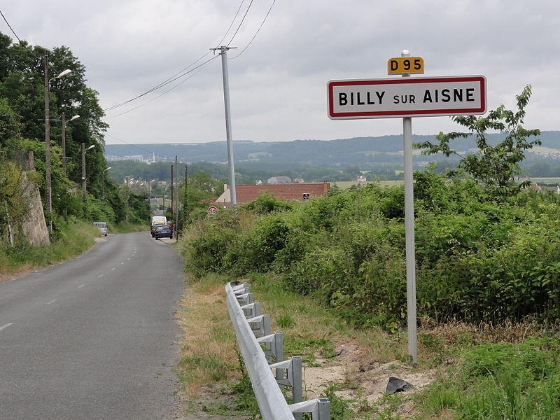 Billy-sur-Aisne (Aisne) city limit sign