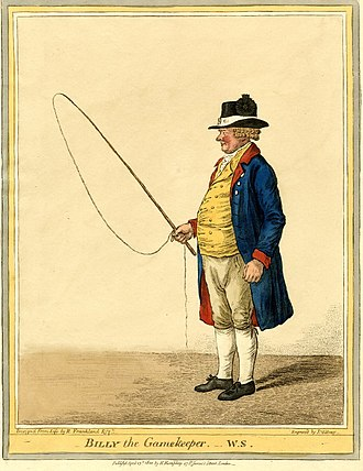 Sir Robert Frankland-Russell, 7th Baronet - Billy the Gamekeeper, 1810 engraving by James Gillray after Robert Frankland