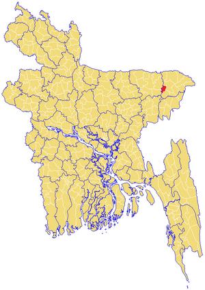 Bishwanath Upazila - Image: Bishwanath Upazila Map