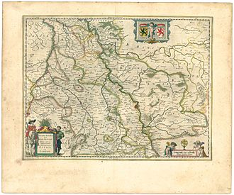 Duchy of Jülich - map of the Duchy of Jülich-Berg from Theater of the World, or a New Atlas of Maps and Representations of All Regions, edited by Willem and Joan Blaeu, 1645