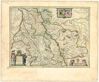 Bergisches Land - Iuliacensis et Montensis Ducatus, 1645, by Blaeu