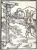 Durer Blasphemy woodcut, via wikipedia