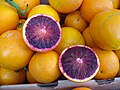 Blood orange slices at a farmers' market in San Francisco, January 2011.jpg