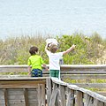 Boardwalk beach day first landing state park (41938450232).jpg