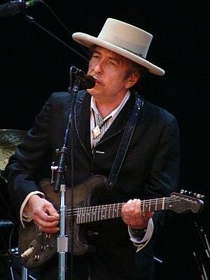 Español: Bob Dylan, en una actuación en Vitori...