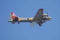 Boeing B-17G-85-DL Flying Fortress Nine-O-Nine Arrival Pass 08 CFatKAM 09Feb2011 (14797263840).jpg